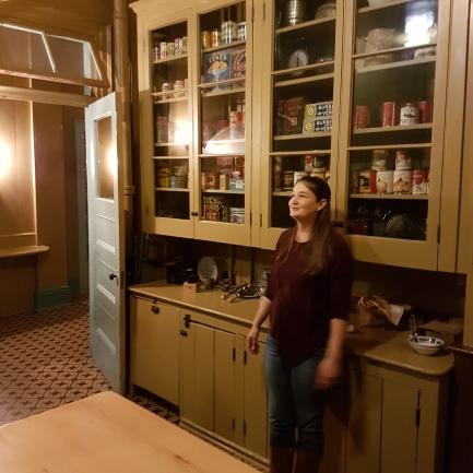 Emily in the Austin kitchen