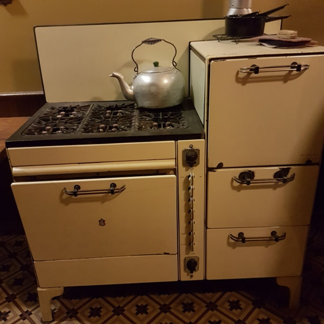 Same stove and oven used by the Austins until 1978 when the house passed to the City of Toronto