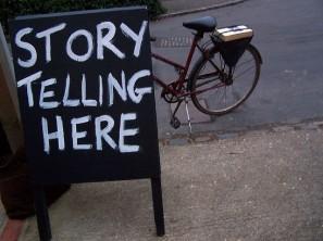 storytelling_here_sign